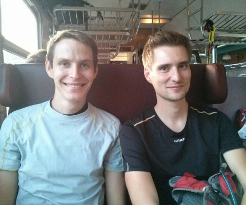 A hurá vlakem do Třince :)