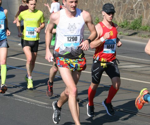 Lukáš na maratonu